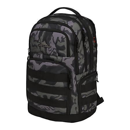 High Sierra Rownan Laptop Backpack, Kamo/Black