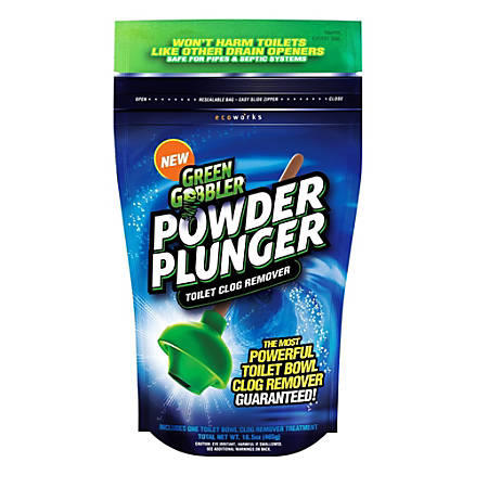 Green Gobbler Powder Plunger, Unscented, 16.5 Oz, Pack Of 3 Bags
