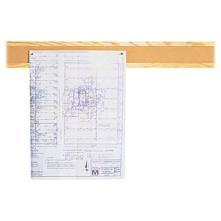 "Quartet® Bulletin Board Strip, 48"", Oak Frame"