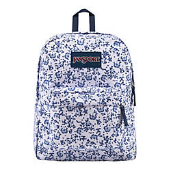 JanSport Superbreak Backpack White Field Floral