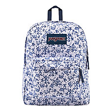 JanSport Superbreak Backpack White Field Floral