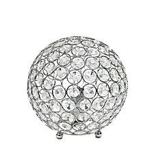 Elegant Designs Crystal Ball Table Lamp