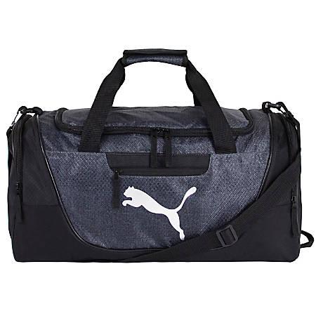 PUMA Contender Duffel Bag, Dark Gray/Silver