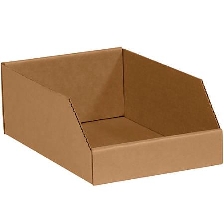 "Office Depot® Brand Open-Top Bin Boxes, 4 1/2""H x 12""W x 10""D, Kraft, Pack Of 25"