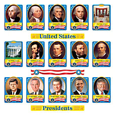 TREND US Presidents Bulletin Board Set