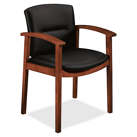 HON® Park Avenue Collection Guest Chair, Black/Mahogany