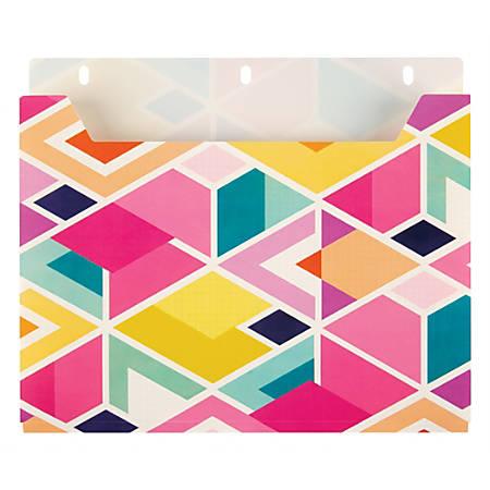 Office Depot® Brand Expanding Binder Pocket, Letter Size, Geometric Design