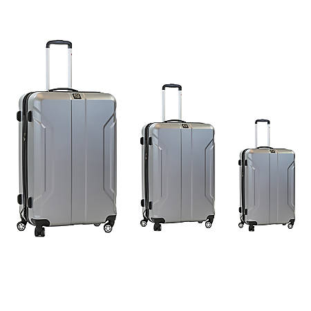 ful Payload 3-Piece Spinner Suitcase Luggage Set, Silver