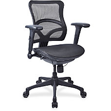 Lorell Mesh Mid Back Chair Black