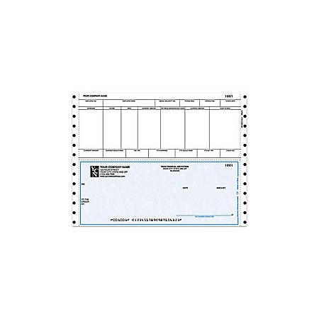 "Continuous Payroll Checks For One Write Plus®, 9 1/2"" x 7"", 1 Part, Box Of 250"