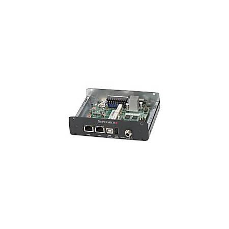 Supermicro IoT Gateway System E100-8Q Desktop Computer - Quark X1021 - 512 MB RAM - Box PC - Black - Gigabit Ethernet