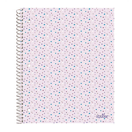 """Office Depot® Brand Stellar Notebook, 10-1/2"""" x 8-1/2"""", Wide Ruled, 160 Pages (80 Sheets), Terrazzo"""