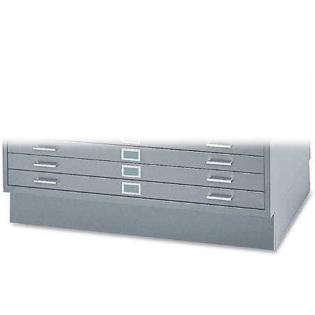 "Safco® Closed Base For 5-Drawer Flat File Cabinets, 6""H x 46 3/8""W x 35 3/8""D, Gray"