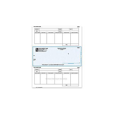 "Custom Laser Accounts Payable Checks For One Write Plus®, 8 1/2"" x 11"", 2 Parts, Box Of 250"