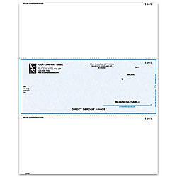 Laser Direct Deposit Advice Checks For