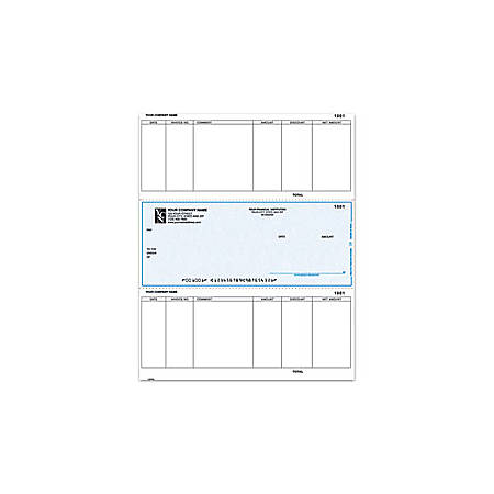 "Custom Laser Accounts Payable Checks For MAS90/MAS200/MAS500®, 8 1/2"" x 11"", 1 Part, Box Of 250"