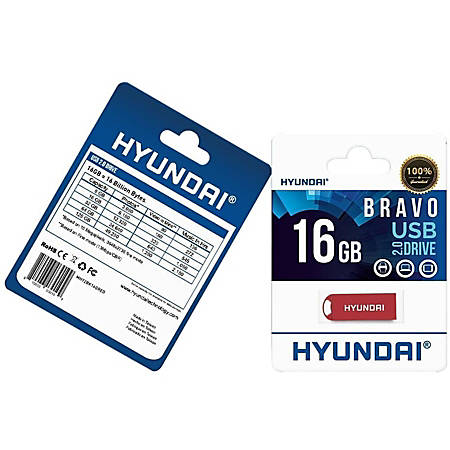 Hyundai Bravo Keychain USB 2.0 Flash Drive 16GB Red - Read Speed: Up to 10MB/s, Write Speed: Up to 3MB/s, Generation: 2.0 , Operation Temperature: 32° - 113° F (0° - 45 °C), Storage Temperature: 14° - 158° F(-10 °C - 70 °C)