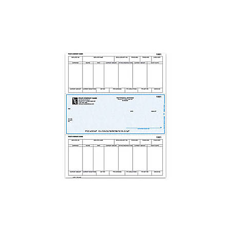 """Laser Payroll Checks For One Write Plus®, 8 1/2"""" x 11"""", 1 Part, Box Of 250"""