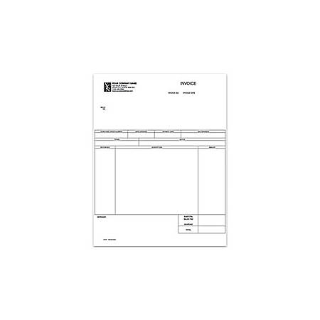 """Custom Laser Service Invoice For One Write Plus®, 8 1/2"""" x 11"""", 1 Part, Box Of 250"""