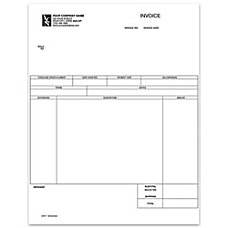 Custom Laser Service Invoice For One