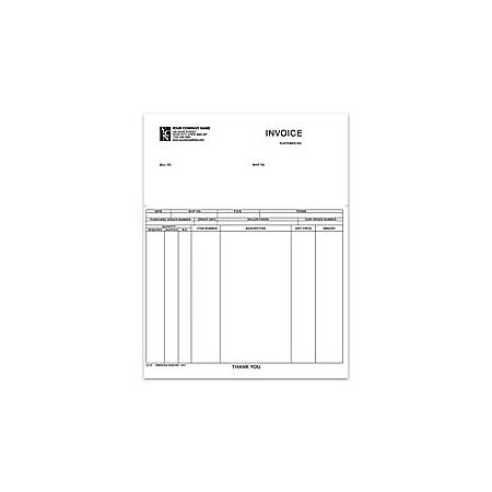 "Custom Laser Forms, Invoice For Business Works®, 8 1/2"" x 11"", 1 Part, Box Of 250"