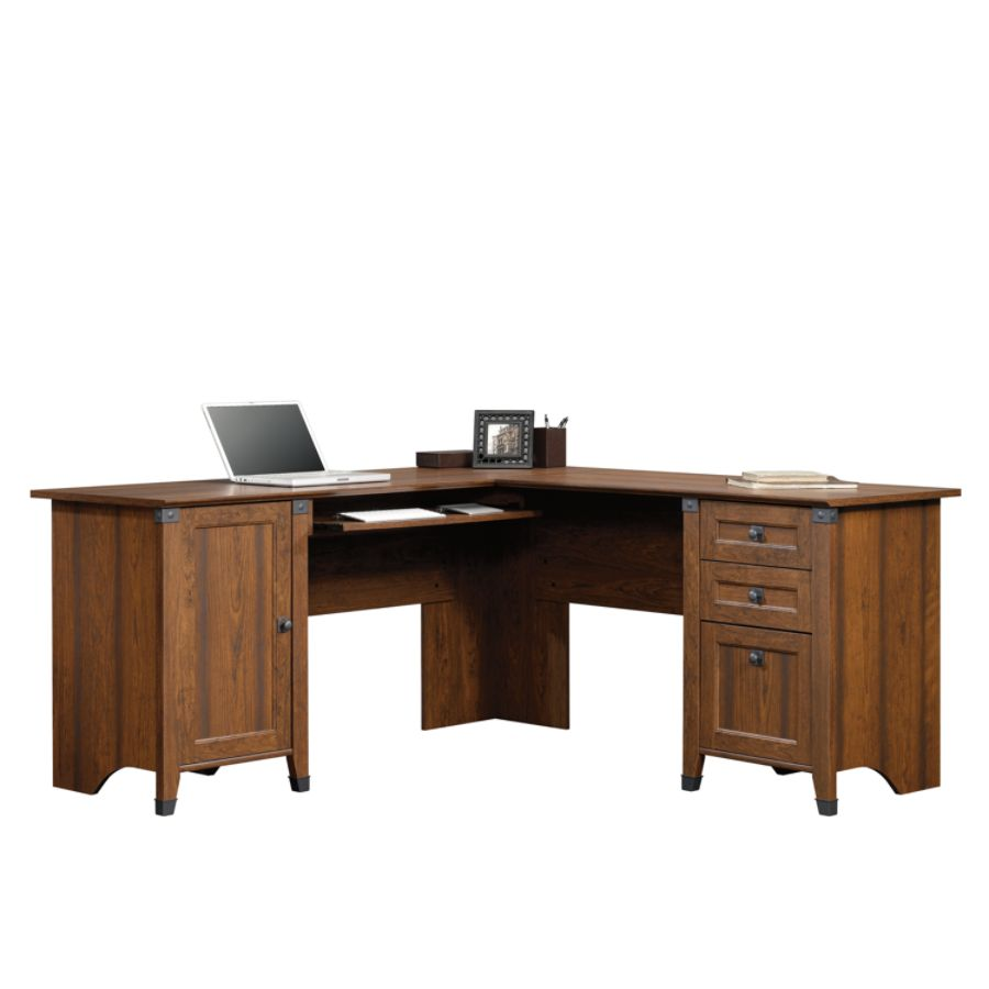 Sauder Carson Forge L Shaped Engineered Wood Corner Computer Desk
