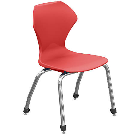 """Marco Group™ Apex™ Series Stacking Chairs, 18""""H, Red/Chrome, Pack Of 4"""