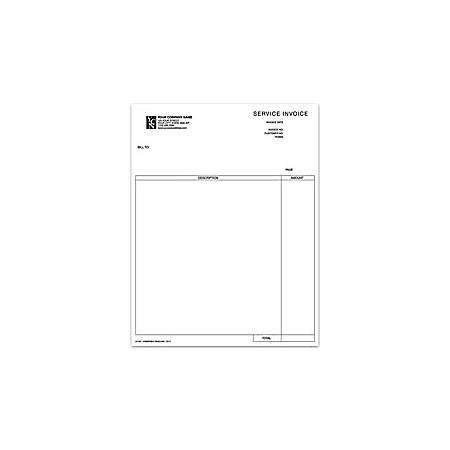 "Laser Service Invoice For Dynamics®/Solomon®, 8 1/2"" x 11"", 1 Part, Box Of 250"