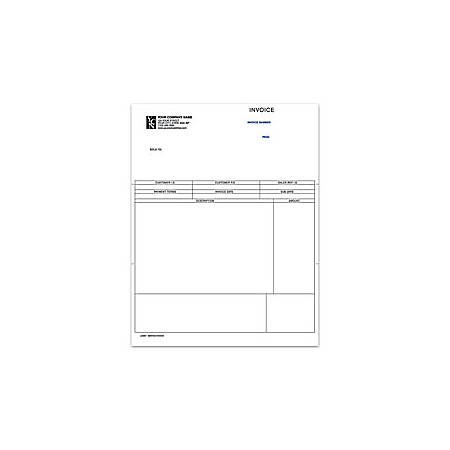"Custom Laser Forms, Service Invoice For Sage Peachtree®, 8 1/2"" x 11"", 1 Part, Box Of 250"