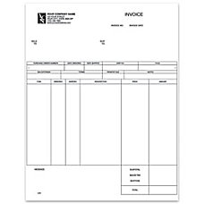Custom Laser Inventory Invoice For One
