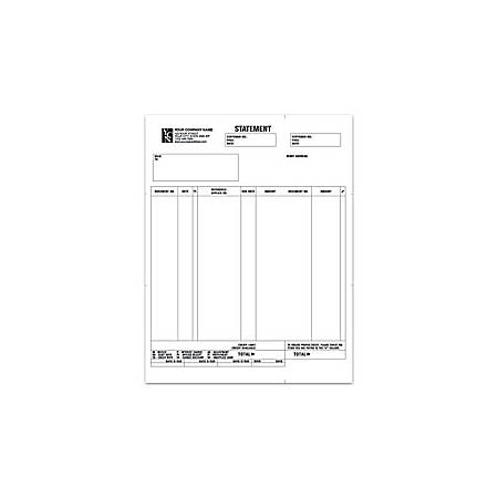 "Custom Laser Statement For ACCPAC®, 8 1/2"" x 11"", 1 Part, Box Of 250"