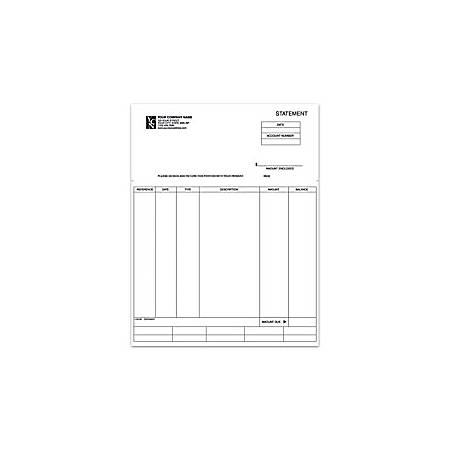 "Custom Laser Forms, Statement For Dynamics®/Solomon®, 8 1/2"" x 11"", 1 Part, Box Of 250"