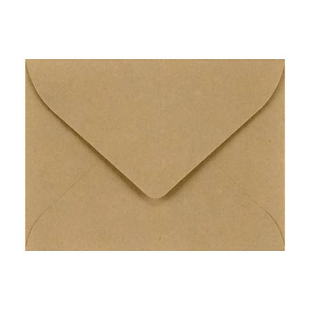 "LUX Mini Envelopes With Flap Closure, #17, 2 11/16"" x 3 11/16"", Grocery Bag, Pack Of 500"