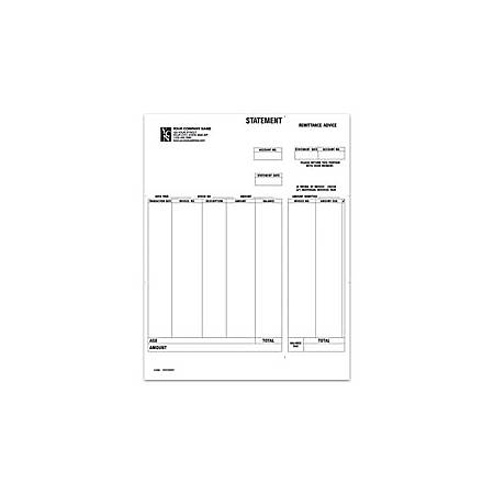 """Laser Statement For Simply Accounting®, 8 1/2"""" x 11"""", 1 Part, Box Of 250"""