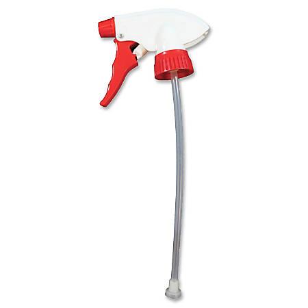 Genuine Joe Standard Trigger Sprayer - 24 / Carton - Red, White