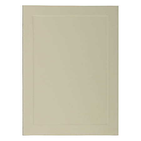 "JAM Paper® Strathmore Fold-Over Cards, With Panel, 4 Bar, 3 1/2"" x 4 7/8"", Ivory, Pack Of 25"