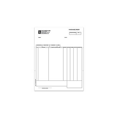 "Laser Purchase Order For Dynamics®/Great Plains®/Microsoft®, 8 1/2"" x 11"", 1 Part, Box Of 250"