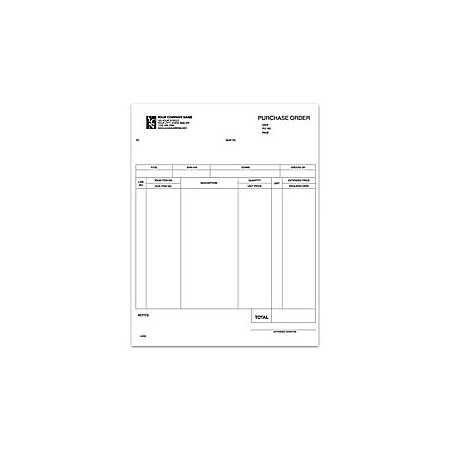 """Custom Laser General Purpose Form For RealWorld®, 8 1/2"""" x 11"""", 1 Part, Box Of 250"""