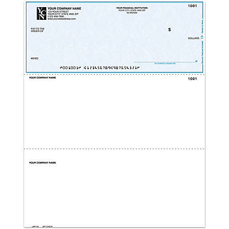 """Laser Multipurpose Voucher Checks Without Lines For Quicken® / Quickbooks® / Microsoft®, 8 1/2"""" x 11"""", 1 Part, Box Of 250"""