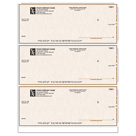 "Laser Multipurpose Draft Checks Without Lines For Quicken® / Quickbooks® / Microsoft®, 8 1/2"" x 11"", 1 Part, Box Of 250"