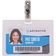 Advantus Strap Clip Self laminating Badge