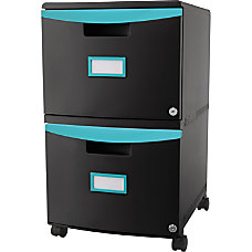 Storex 2 Drawer Mobile File Cabinet