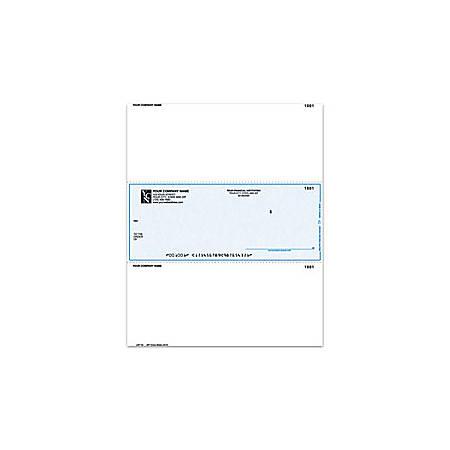 """Custom Laser Multipurpose Voucher Checks For One Write Plus®, 8 1/2"""" x 11"""", 1 Part, Box Of 250"""