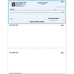 Laser Multipurpose Direct Deposit Advice Check