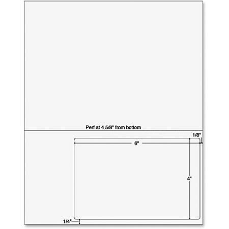 "Sparco Laser, SPR99592, Inkjet Print Integrated Label Form, 6"" x 4"" , Pack Of 250,  White"