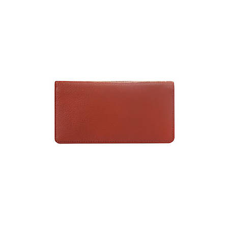 Custom Wallet Check Cover, Classic Leather, Red