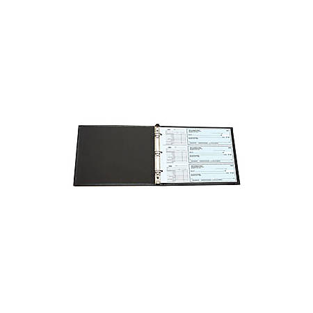 "Custom Home Desk Binder, Style 28, 9"" x 11 1/2"", Black"