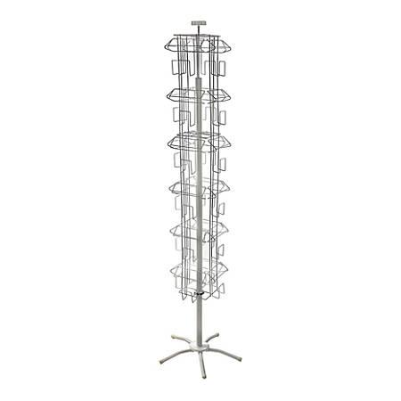 """Azar Displays 24-Pocket Wire Literature Floor Stand, 64""""H x 18""""W x 18""""D, Silver"""