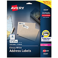Avery Glossy Permanent Labels 6524 Mailing
