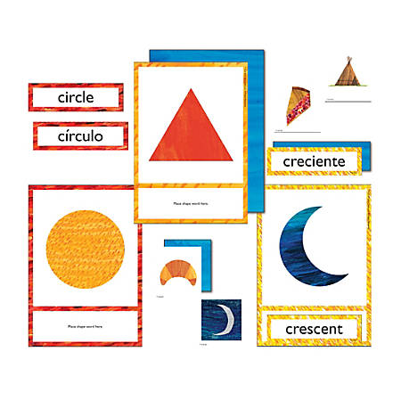 Carson-Dellosa World Of Eric Carle Learning Cards, Shapes, Set Of 79 Cards